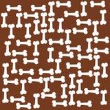 Brown dog bone texture vector illustration
