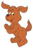 Brown Dog (vector clip-art). Vector clip-art / children's illustration for your design Stock Photos