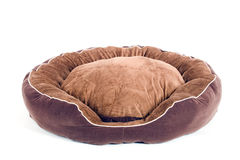 Brown dogbed on white Royalty Free Stock Images