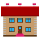 Brown dom Obrazy Royalty Free