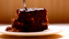 Brown domestic cake stock video footage