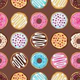 Brown donuts wzór Obrazy Stock