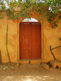 Brown door. Royalty Free Stock Image