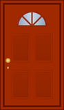Brown door. Vector illustration of brown door Royalty Free Stock Photos