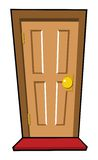 Brown door Stock Photography