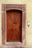 Brown door exterior entrance Royalty Free Stock Photography