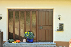 Brown door from the house. Royalty Free Stock Photography