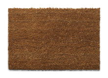 Brown Door Mat Stock Photo