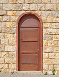 Brown door Royalty Free Stock Image