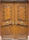 Brown_door_ornament_keyhole-2 免版税库存照片