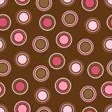 brown dots rosa polka Royaltyfri Foto