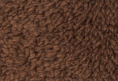 Brown double sided terry towelling fabric texture background Stock Photos