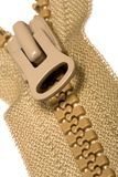 brown dragen ned blixtlåset på zipper Arkivbild