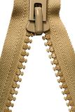 brown dragen ned blixtlåset på zipper Royaltyfria Foton
