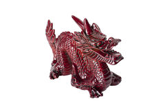 Brown dragon isolated on white background. Brown traditional chinese dragon isolated on white background. Feng Shui statuette Stock Photos