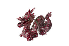 Brown dragon isolated on white background. Brown traditional chinese dragon isolated on white background. Feng Shui statuette Royalty Free Stock Photos