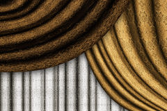Brown drapes Royalty Free Stock Photography