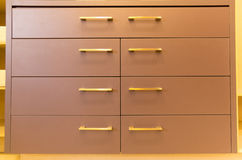 Brown drawers Royalty Free Stock Images