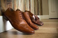 Brown Dress shoes Royalty Free Stock Photos