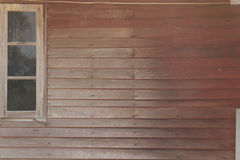 Brown drewna ściana z okno Obraz Royalty Free