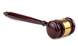 Brown drewniana aukcja lub sędziego młoteczek Zdjęcie Stock
