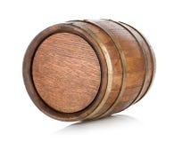Brown drewniana baryłka Zdjęcie Stock