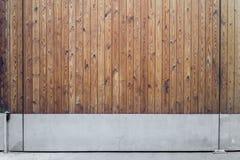 Brown drewniana brama Obrazy Stock