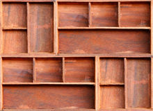Brown drewniana gabinetowa półka Zdjęcia Royalty Free