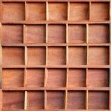 Brown drewniana gabinetowa półka Obrazy Royalty Free