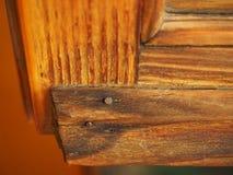 Brown drewniana nadokienna rama Fotografia Stock