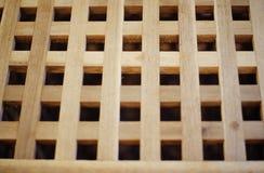 Brown Drewniana siatka Fotografia Royalty Free