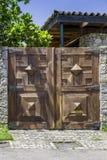 Brown drewniana stara brama Obraz Stock