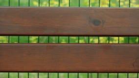 Brown drewniane deski ławka z puste miejsce kopii przestrzenią zbiory wideo