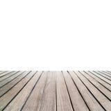 Brown drewniane deski odizolowywać na białym tle Reklamuje, sh obrazy royalty free