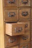 Brown drewniani retro kreślarzi Fotografia Stock