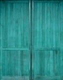 Brown drewniany drzwi Zdjęcie Royalty Free