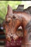 Brown drewniany kołysa koń Zdjęcia Royalty Free