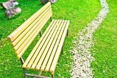 Brown drewniany krzesło Fotografia Royalty Free