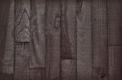 Brown drewniany tło w sepiowym Obrazy Royalty Free