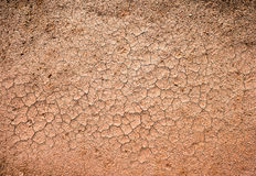 Brown dry cracked ground Stock Images
