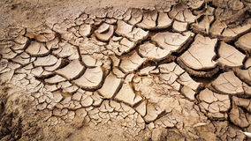 Brown dry mud. Sand texture cracked background detail drought Stock Photography