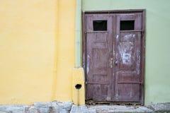 Brown drzwi Zdjęcia Stock