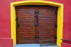 Brown drzwi Obraz Royalty Free