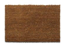 Brown Drzwiowa mata Zdjęcie Stock