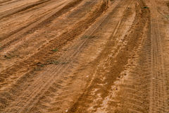 Brown dust road Royalty Free Stock Photography