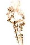 Brown dym na białym tle, tekstura abstrakt Obraz Stock