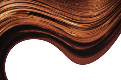 Brown dynamic waves over white Royalty Free Stock Images