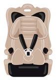 Brown dziecka samochodowy siedzenie Zdjęcia Stock