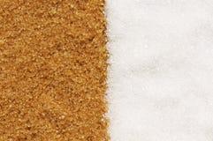 Brown e açúcar branco Imagem de Stock