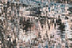 Brown e a arte digital da aquarela abstrata do preto pintam o backgroun ilustração do vetor